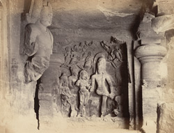 Elephanta - Marriage of Shiva [and Parvati]
